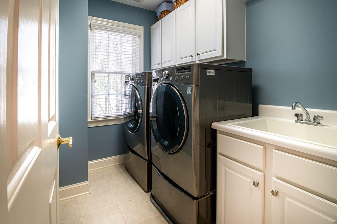 Zona de lavada en el hogar.