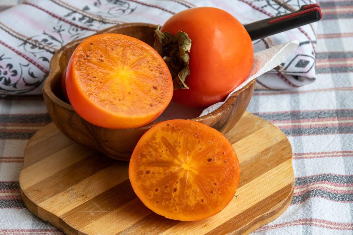 Usos en la cocina del persimón.
