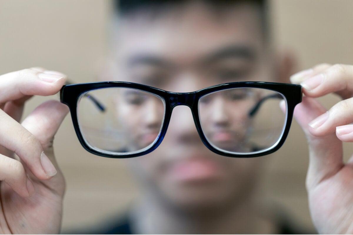 Gafas para la falta de visión.