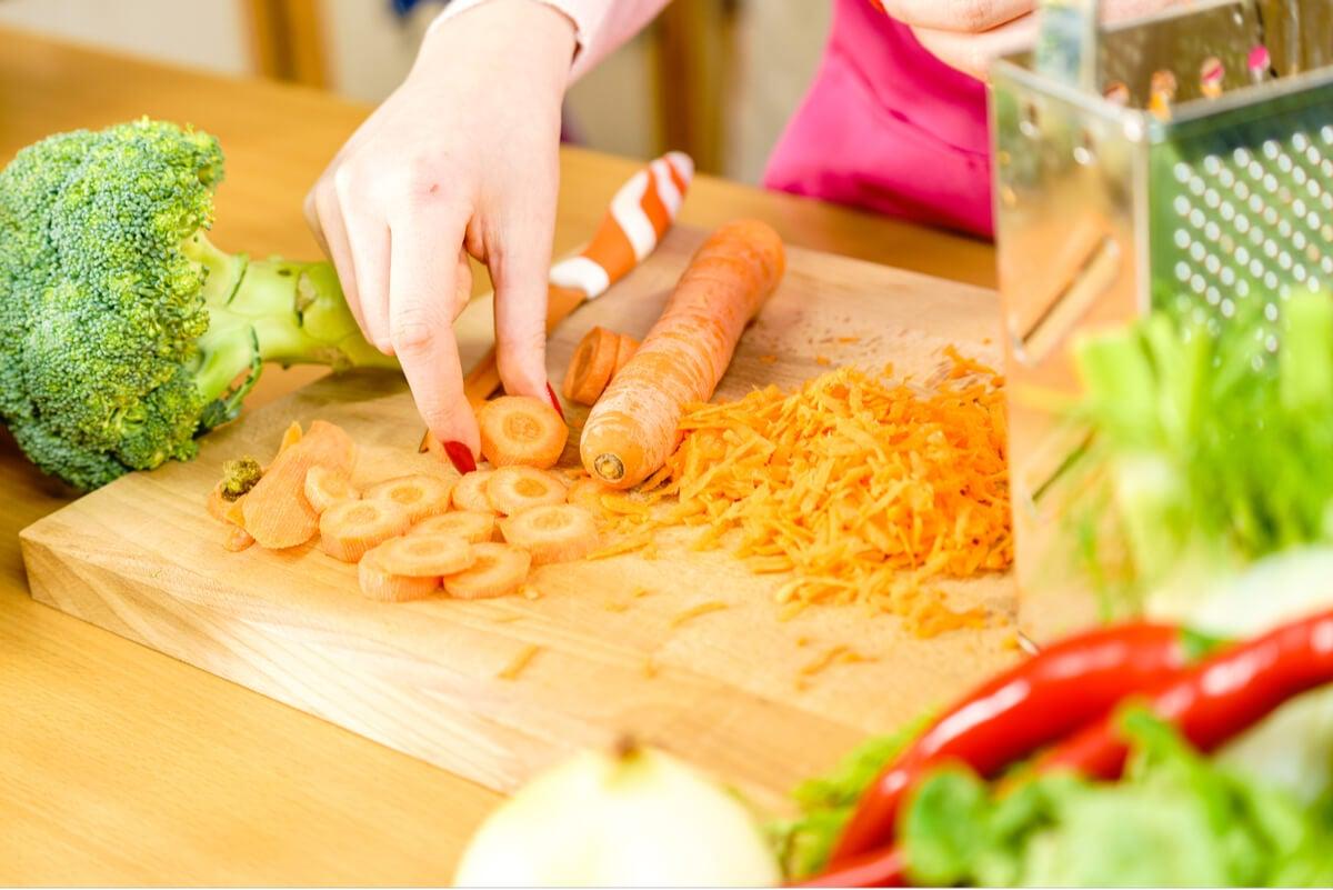Zanahoria con betacarotenos y vitamina A.
