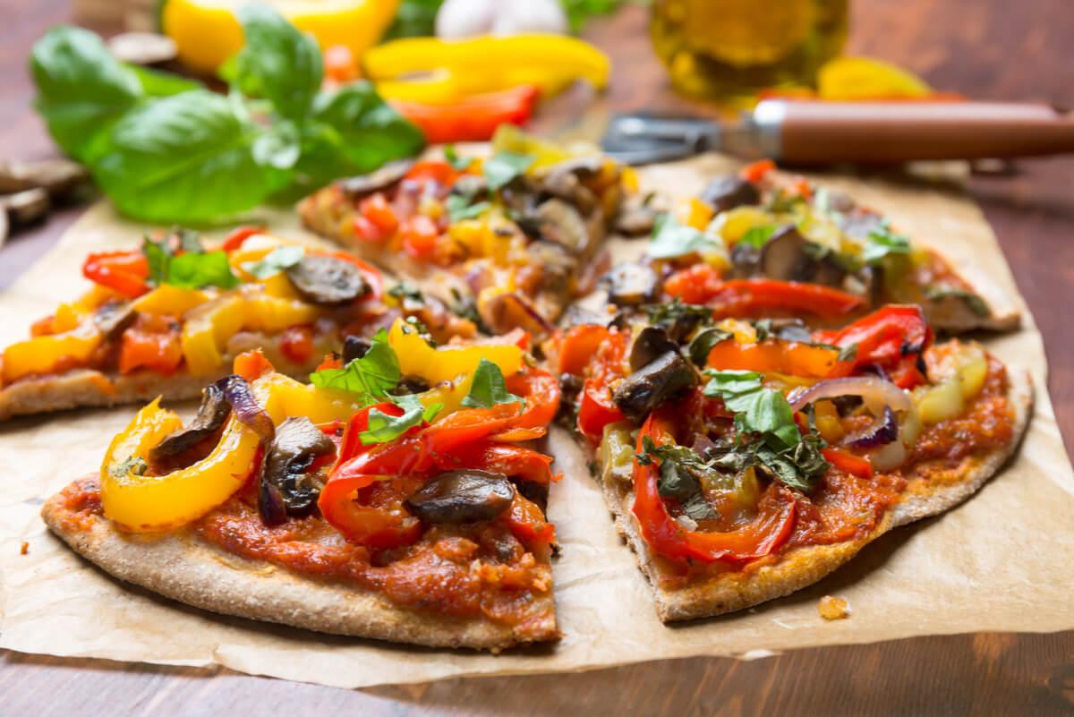 Pizza para vegetarianos.