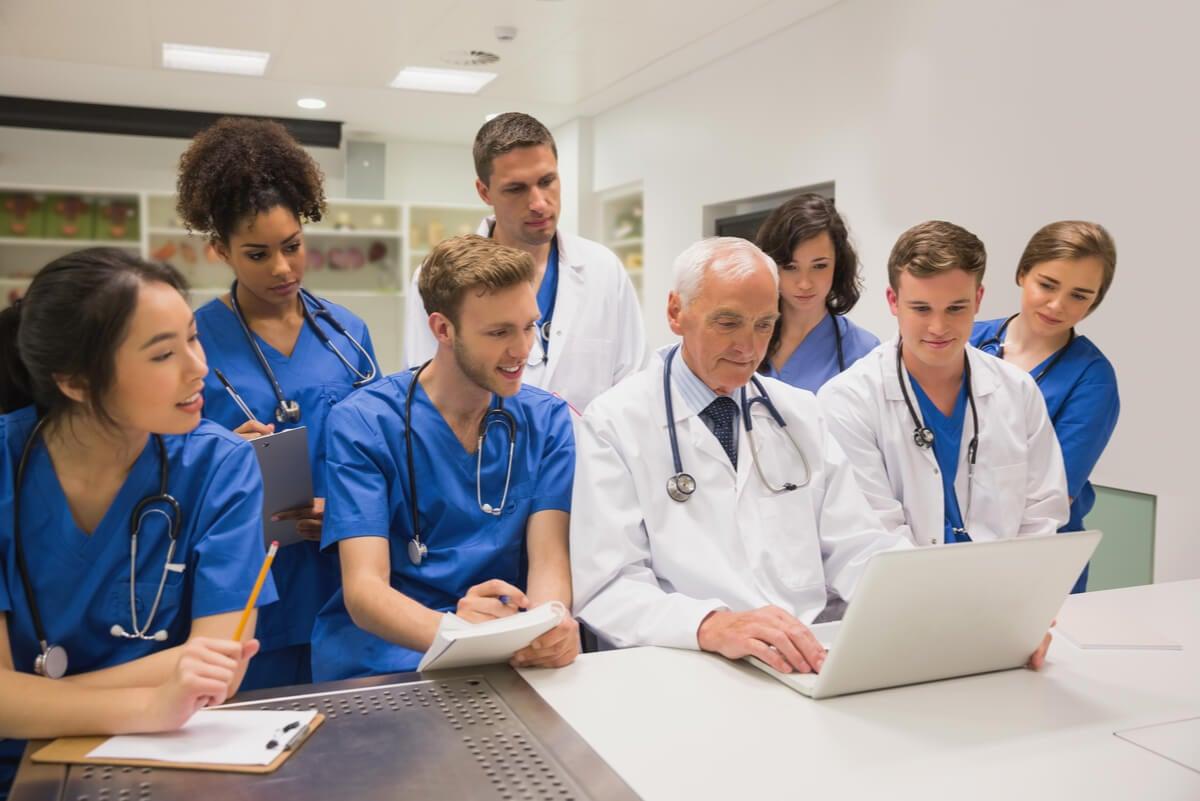 Formación de los estudiantes de medicina.