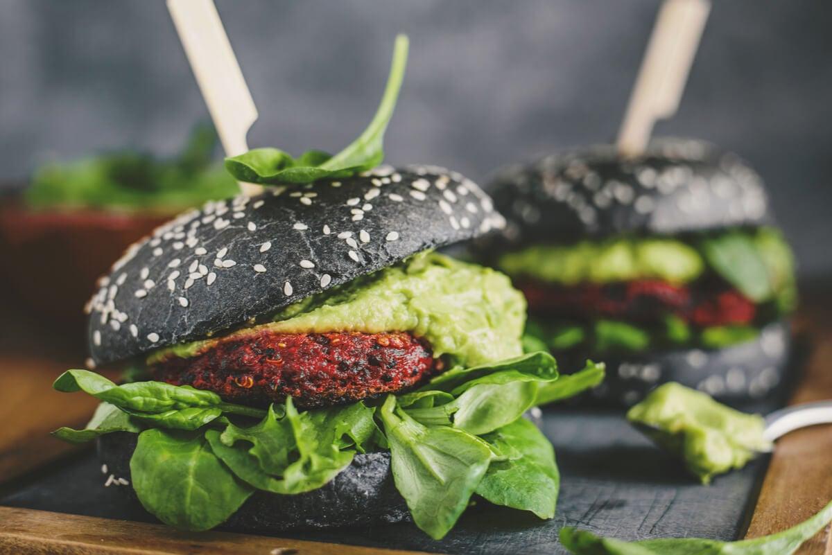 Hamburguesa vegana.