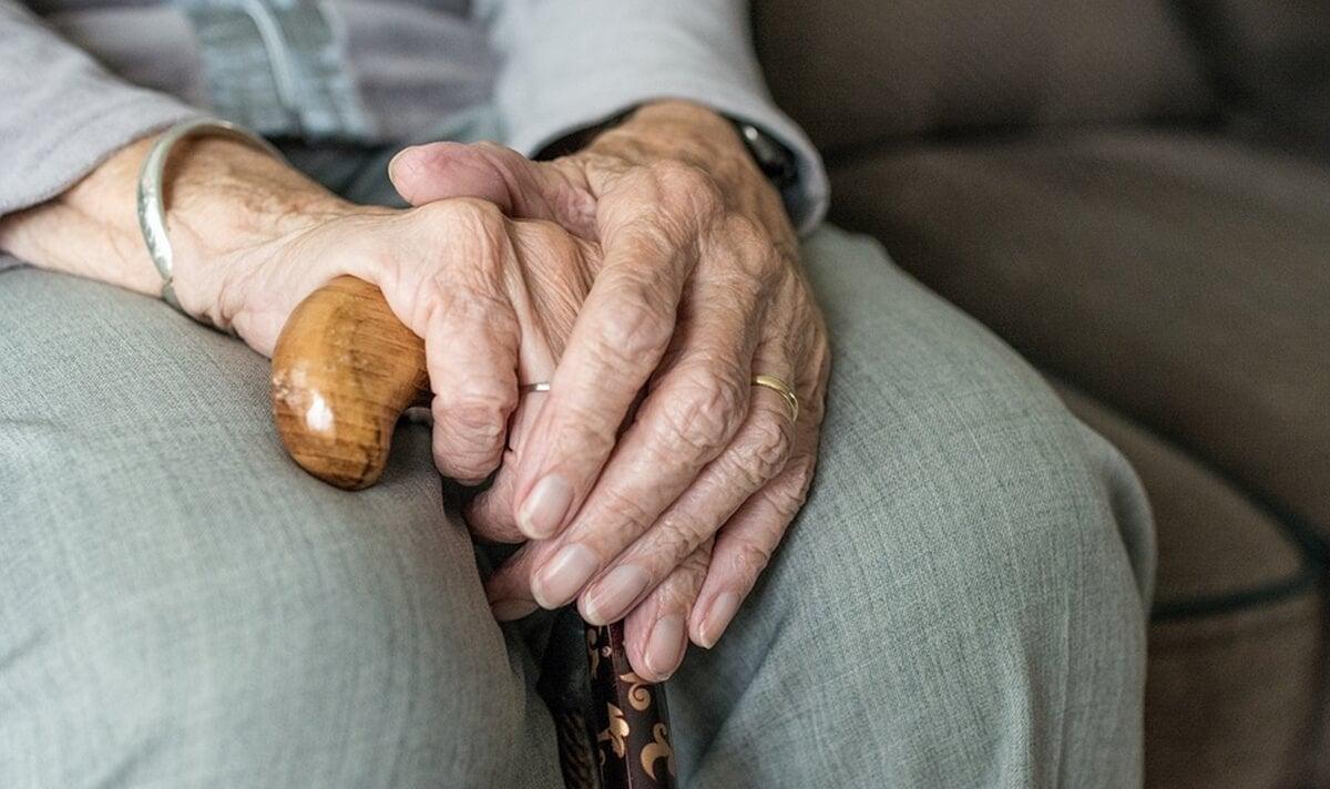 Anciana con síndrome de Diógenes.