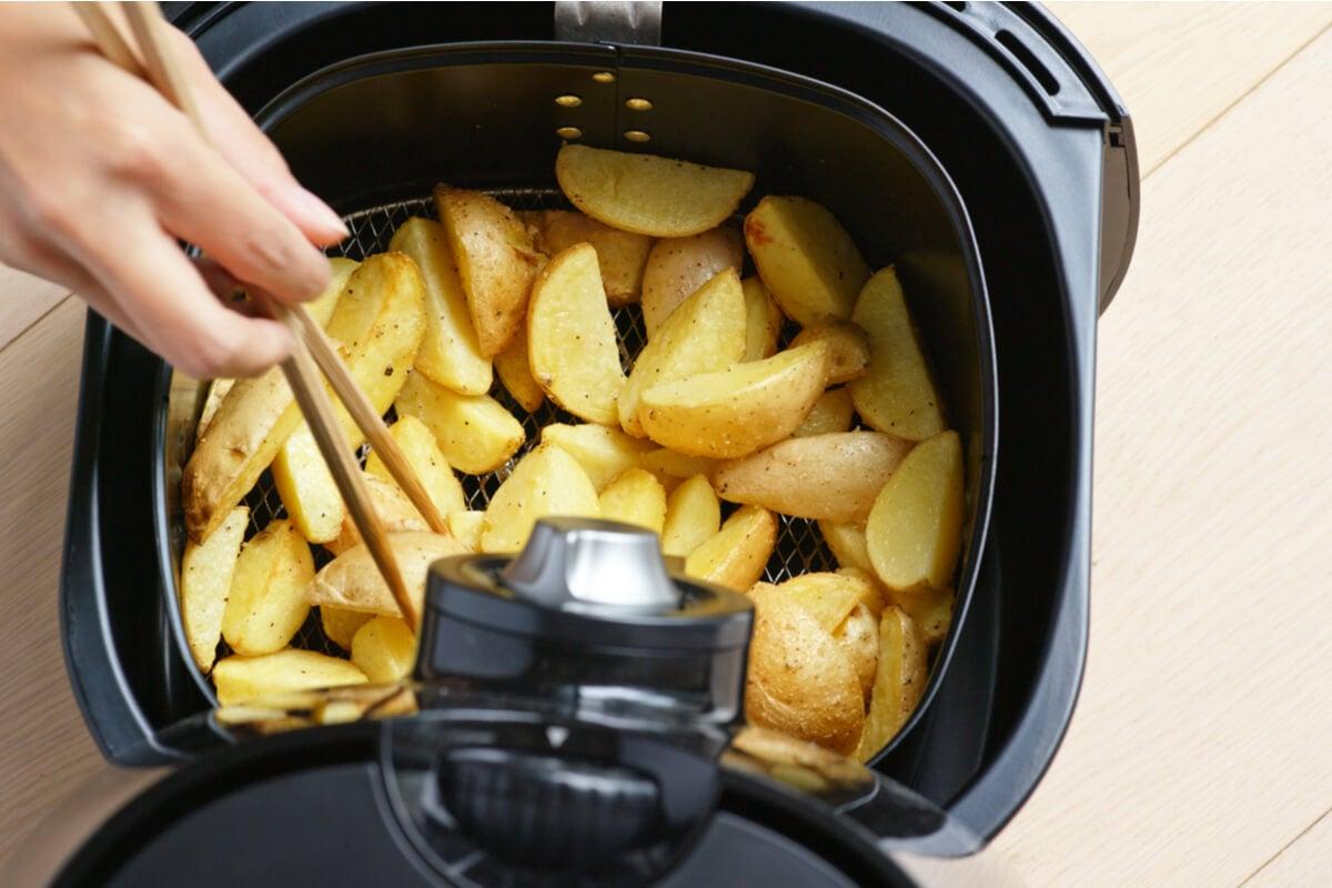 Patats fritas en freidora de aire