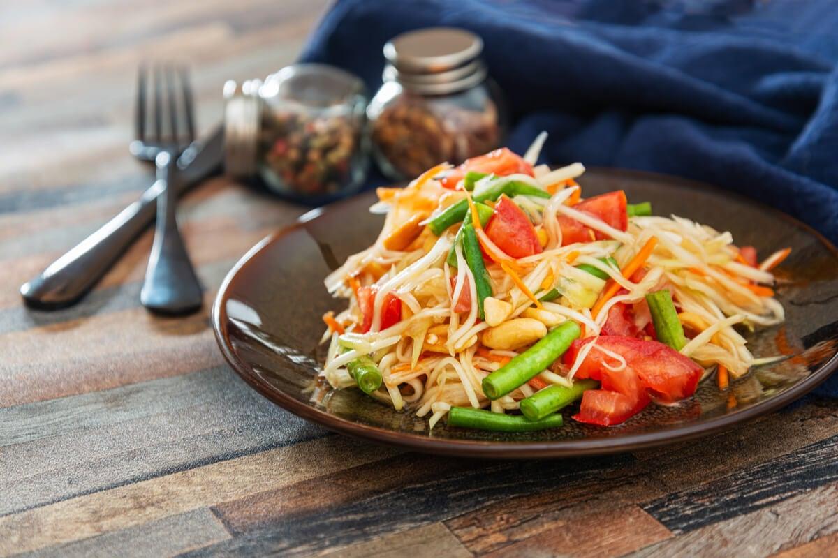 Ensalada de papaya: receta rápida y deliciosa