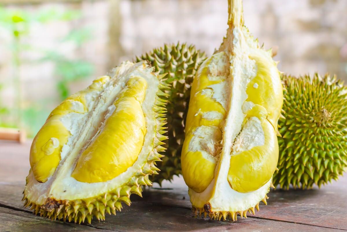 Durian tiene beneficios para la salud.