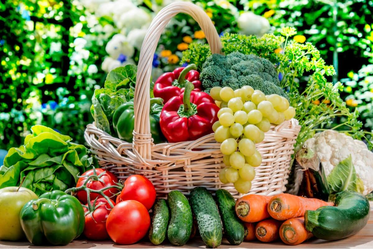 Vegetales y frutas en la dieta de Messi.