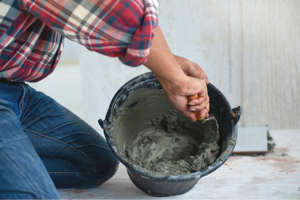 Preparación de cemento.