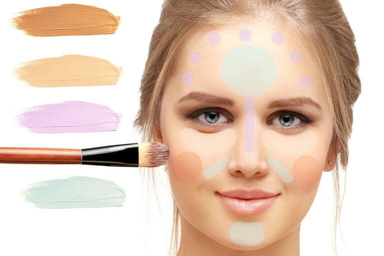 ¿Qué función tiene el corrector de color y cómo usarlo adecuadamente?
