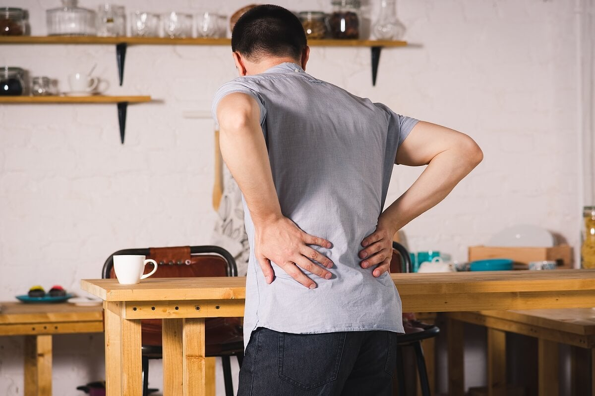 Dolor de espalda por espondilitis anquilosante.