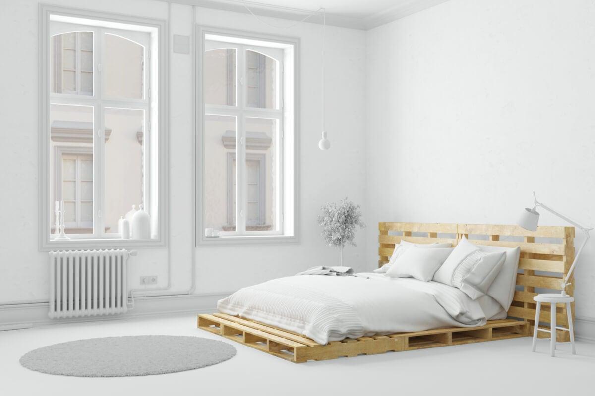 Minimalismo en el dormitorio según el feng shui.