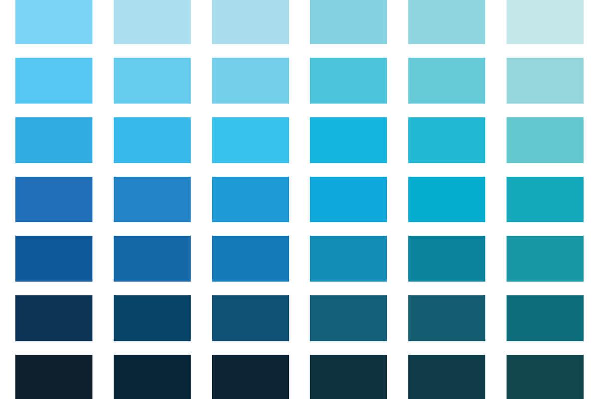 Tonos azules.