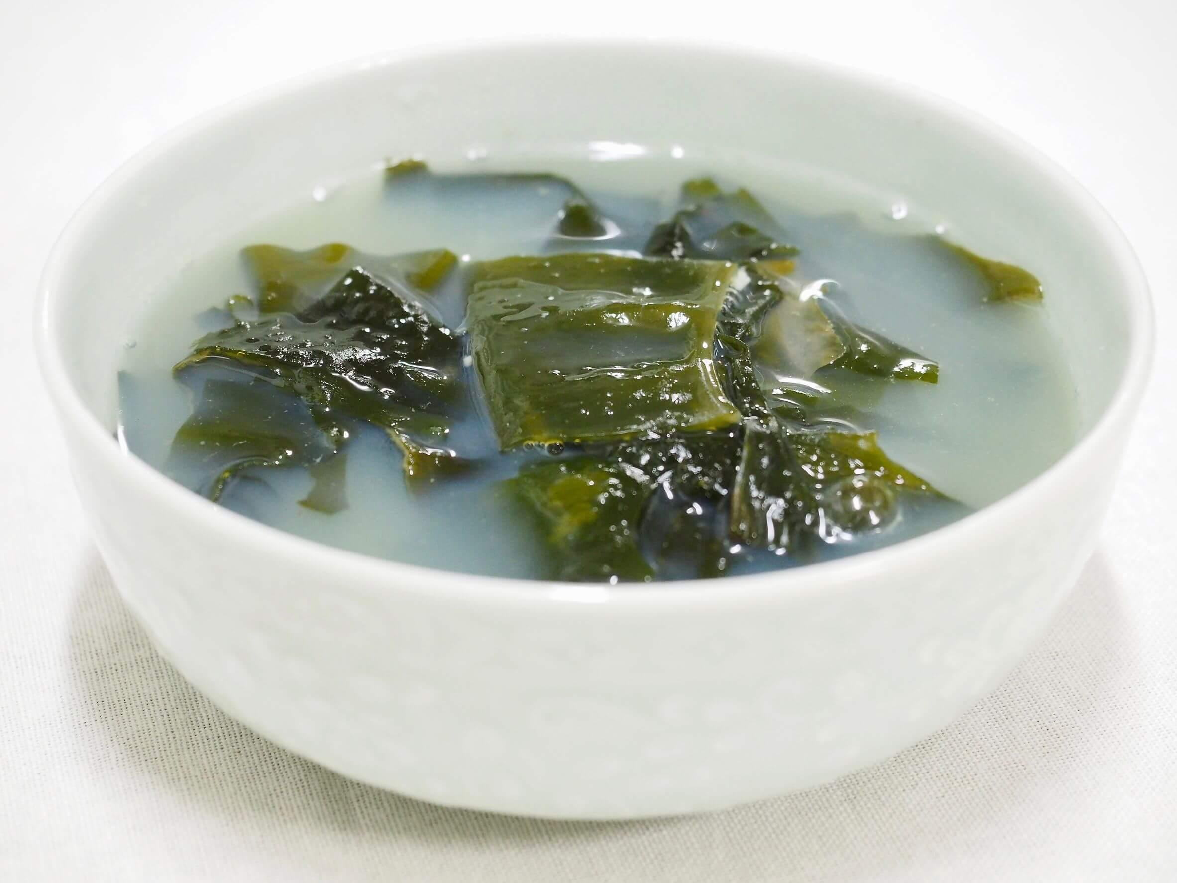 Las algas en la alimentación son comunes.