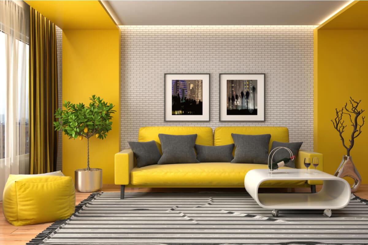 Decorar con color amarillo: todo lo que debes saber