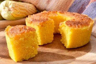 Receta de bizcocho con harina de maíz