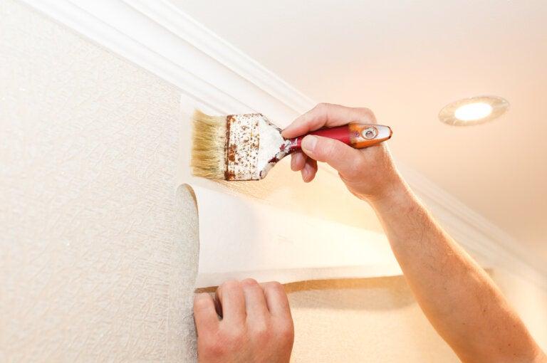 ¿Cómo colocar papel pintado en la pared?