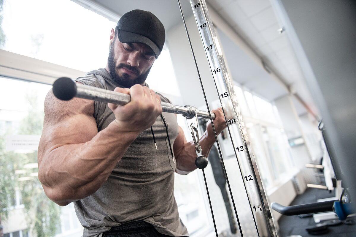 ¿Cómo construye el músculo un fisicoculturista?