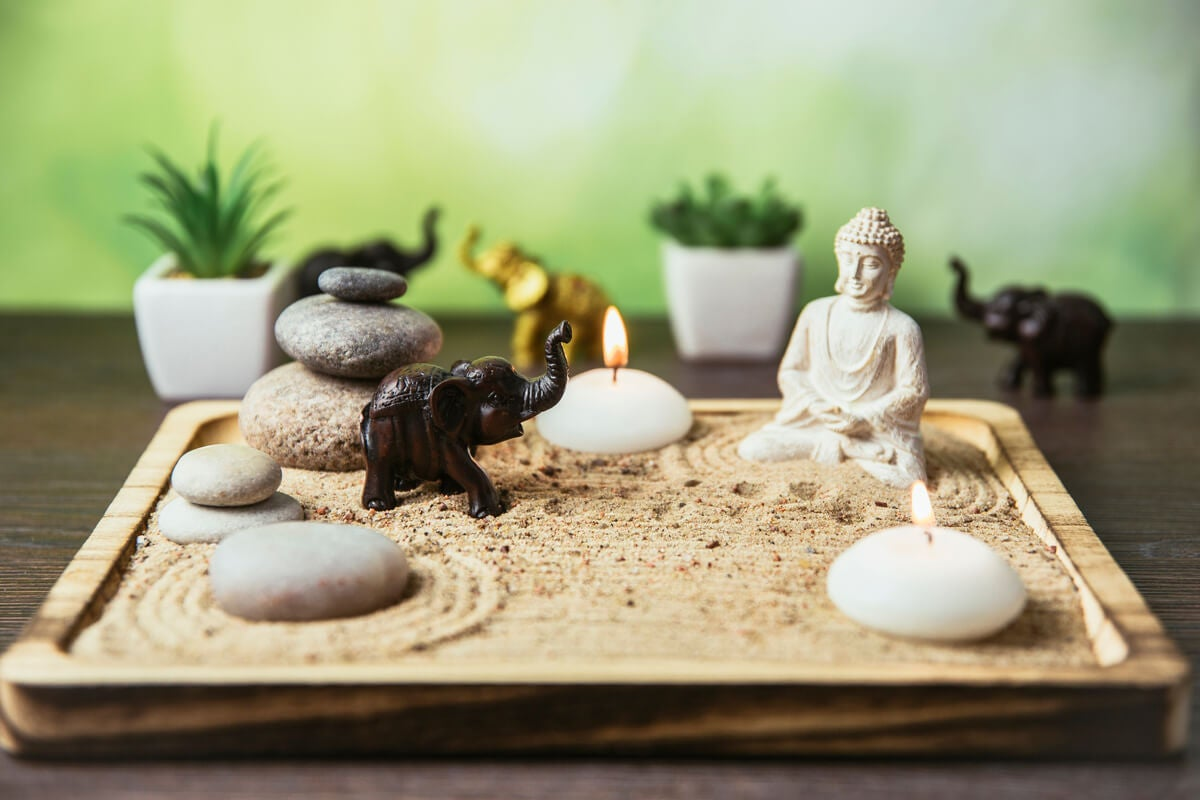 Jardín zen pequeño.