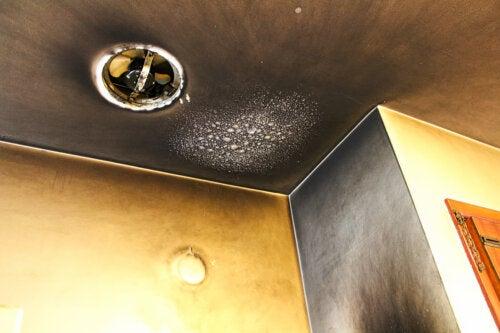¿Cómo limpiar las manchas de humo en el techo?