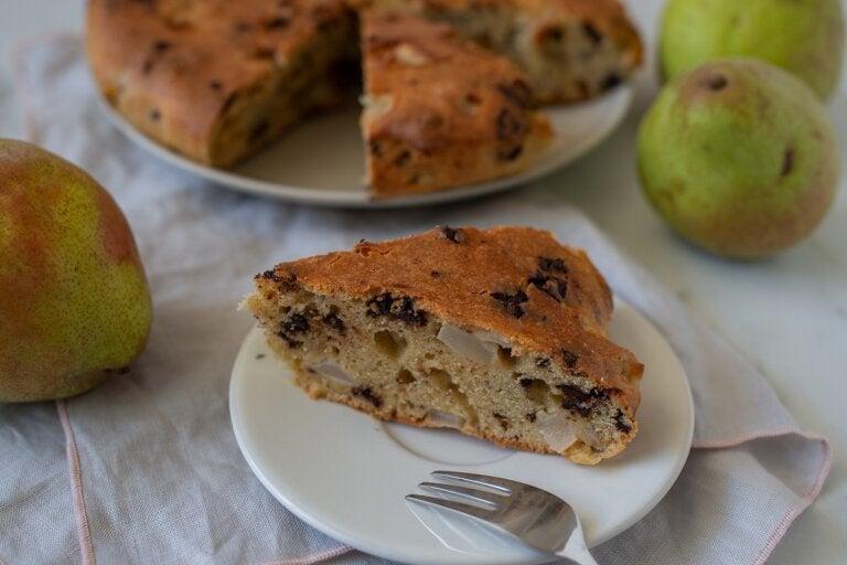 Bizcocho de pera: receta paso a paso