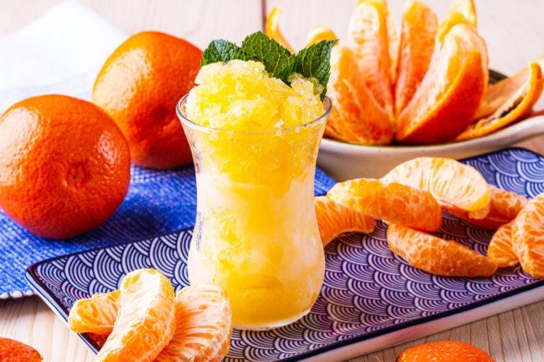 ¿Cómo hacer un sorbete de mandarina?