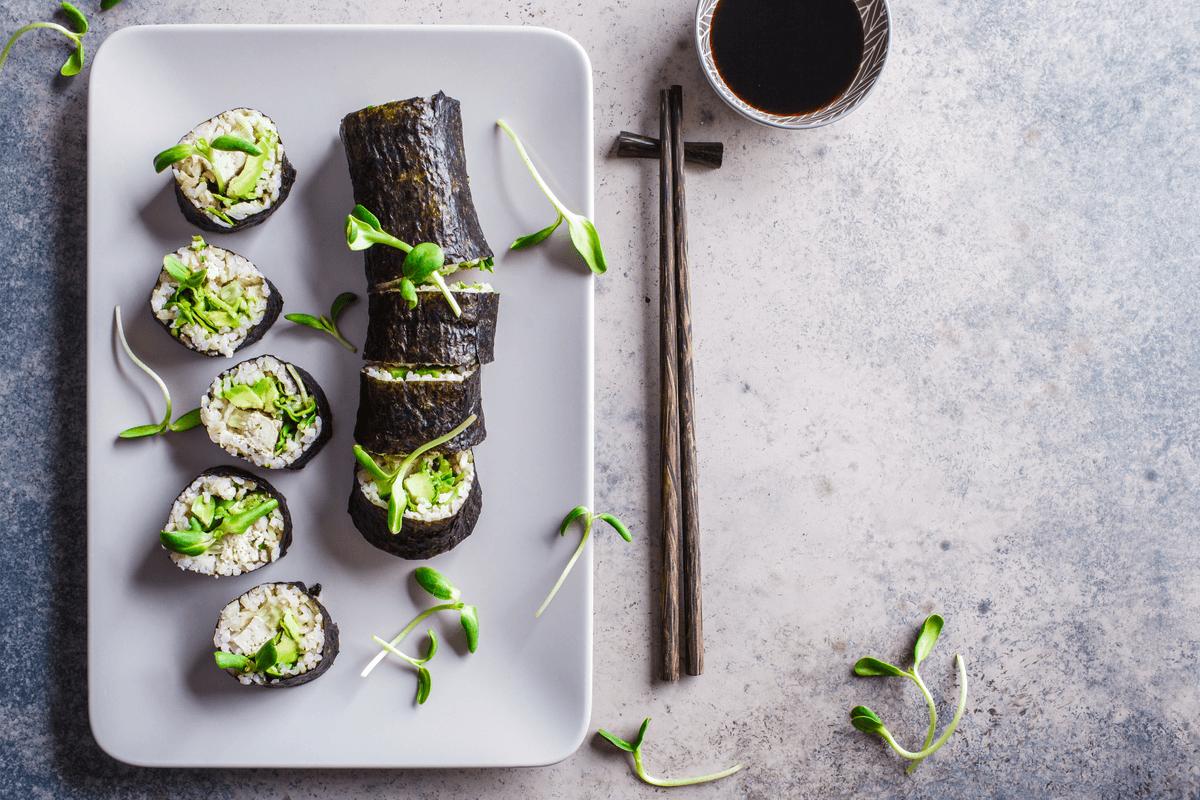 2 recetas de sushi vegano