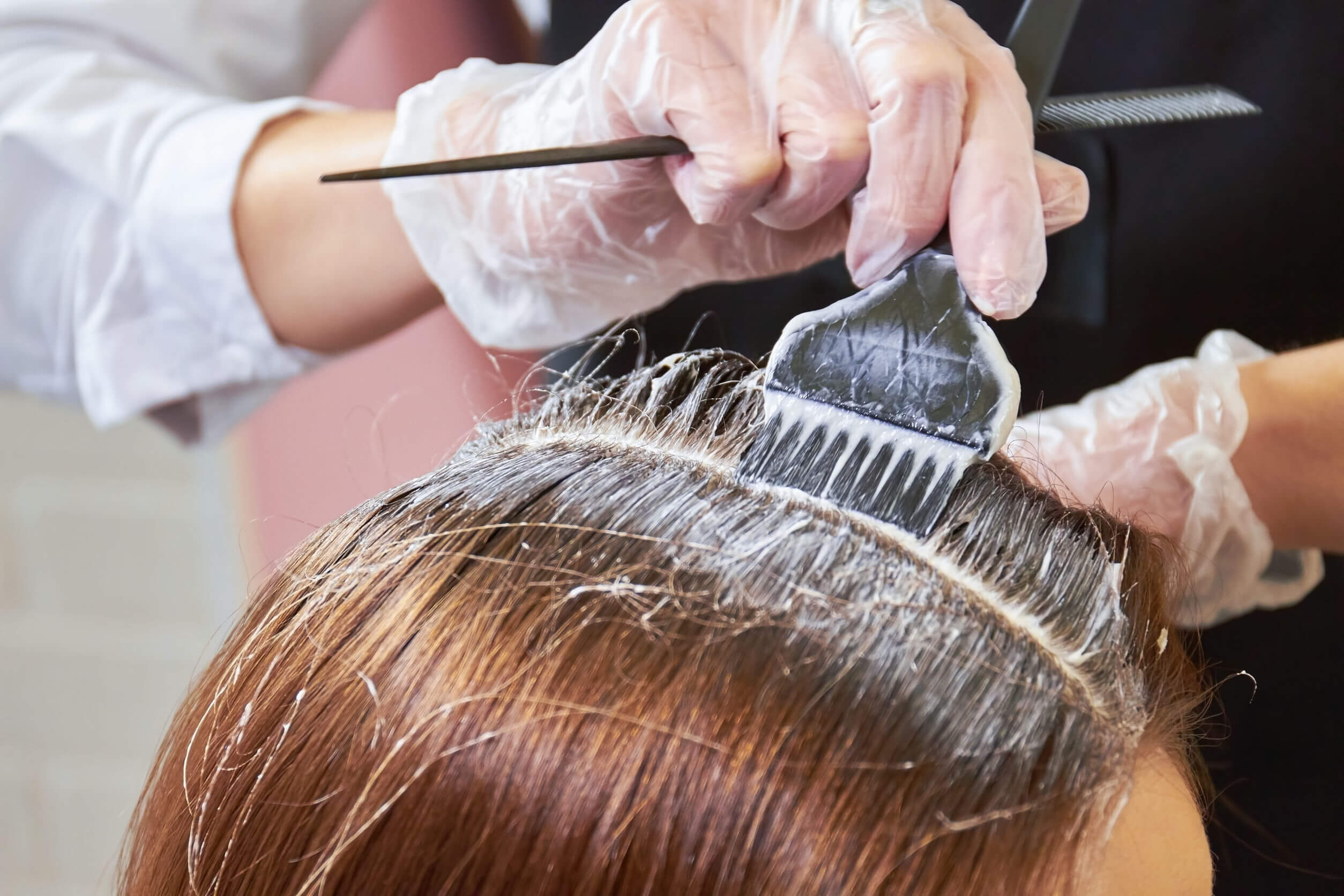 Tintura para el cabello con propanediol.