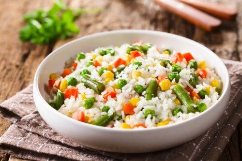 Receta de salteado de arroz con guisantes