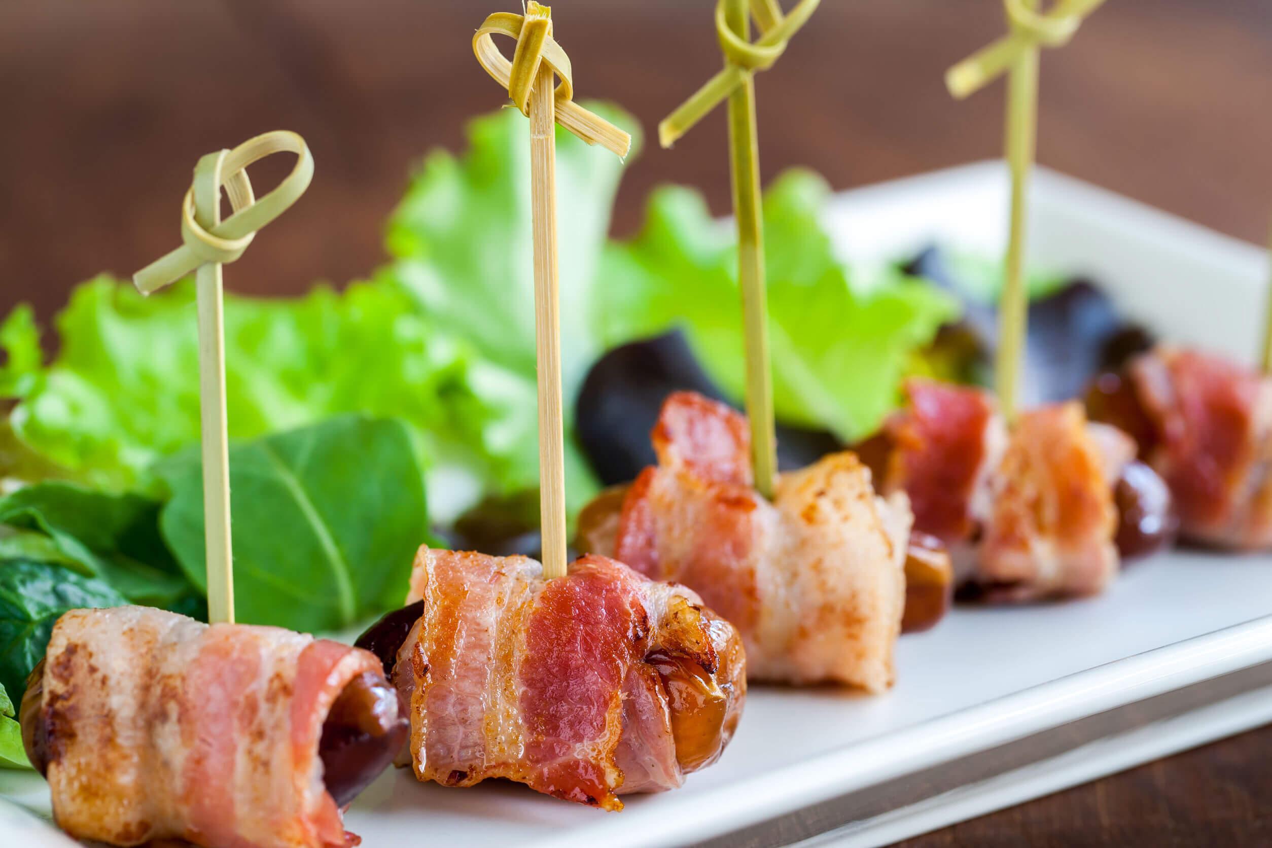Dátiles con bacon: receta fácil y rápida
