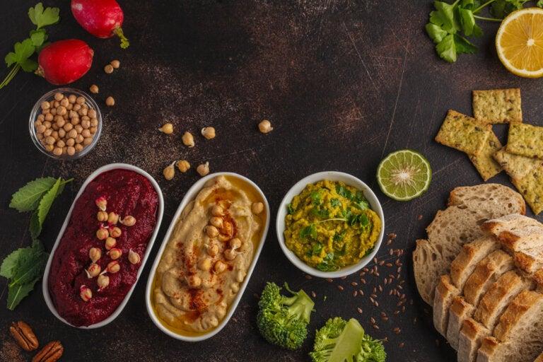 5 recetas de dips veganos