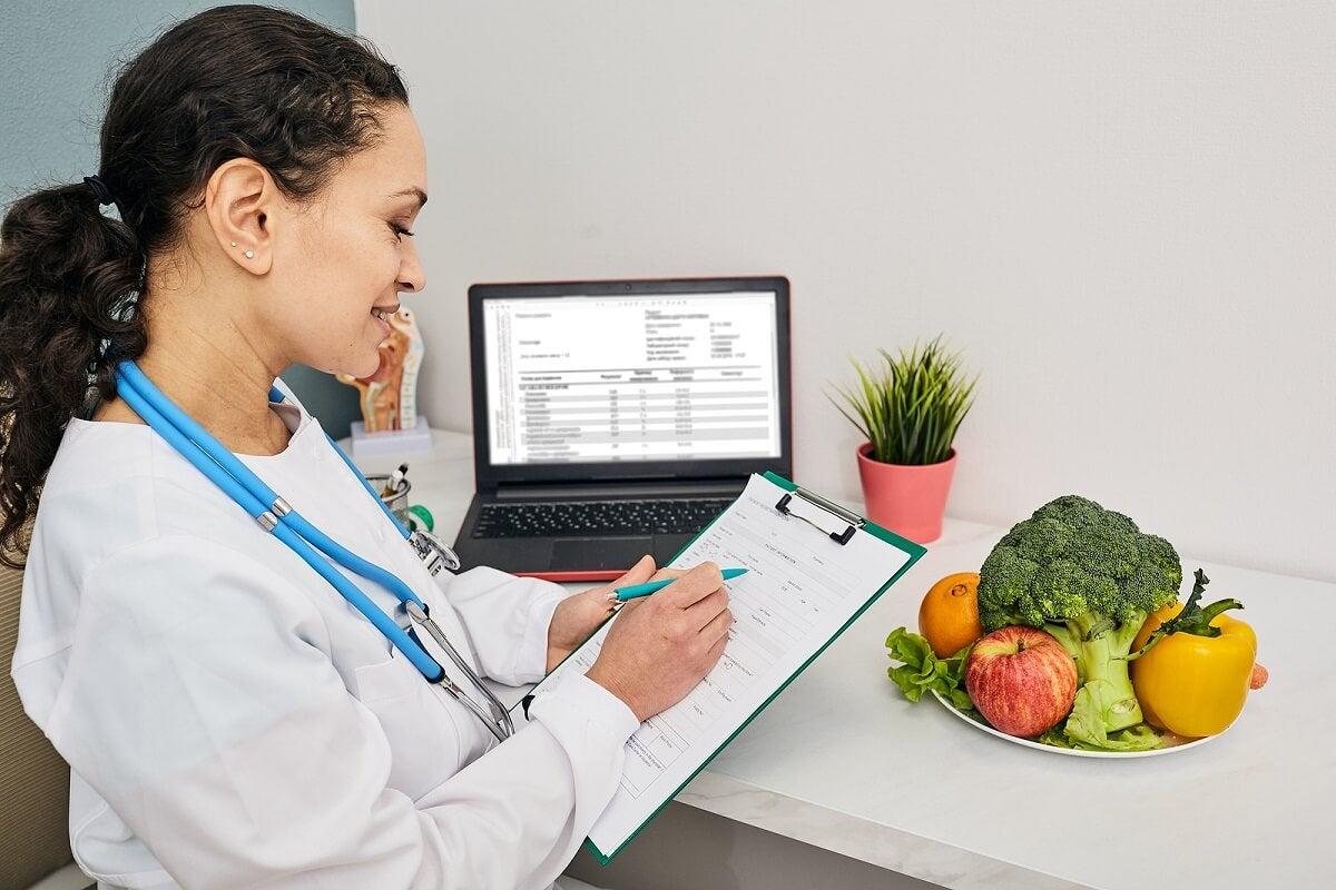 Régime alimentaire pour les maladies.