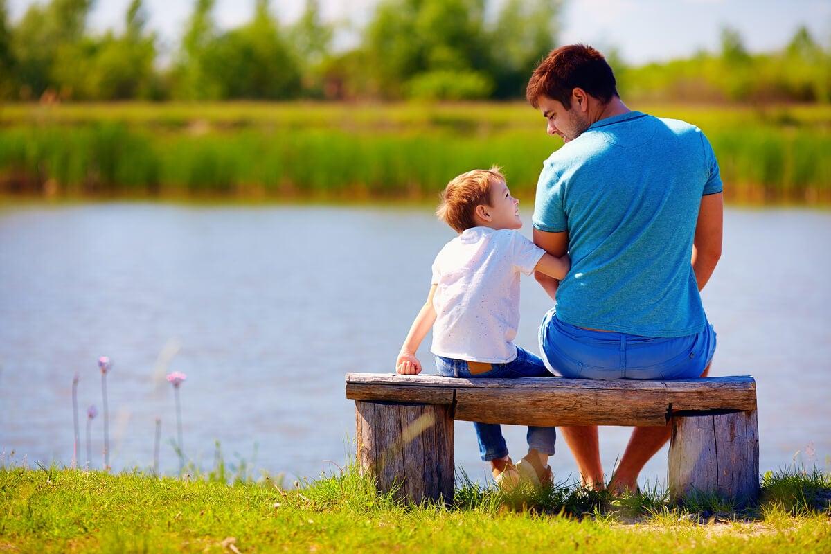 Diálogo entre padre e hijo.