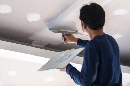 ¿Cómo pintar paredes y techos de Durlock ®?