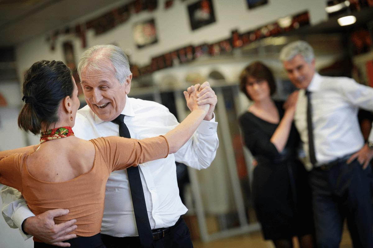 Terapia de baile.