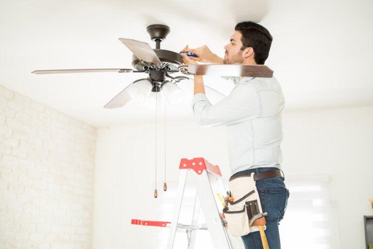 Instalación de un ventilador de techo: paso a paso