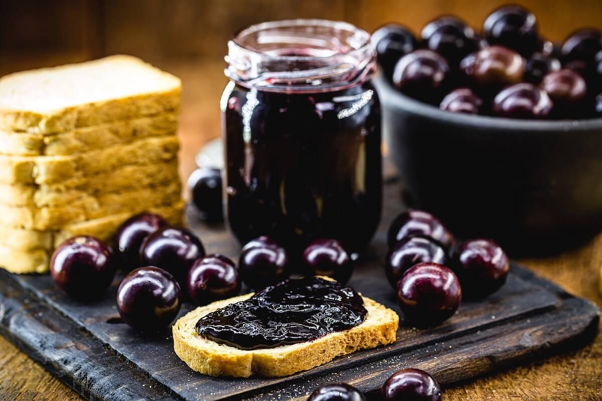 Mermelada de uva casera