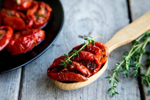 4 recetas utilizando tomates deshidratados