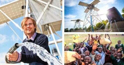 Máquinas solares creadas por un joven que proveen agua potable, segura y limpia