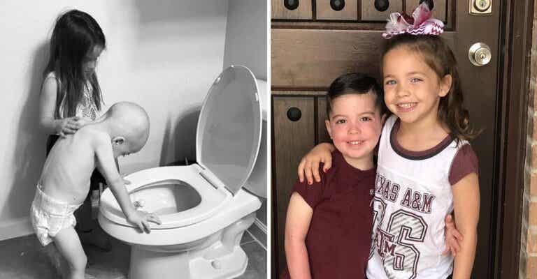Niño fue consolado por su hermana mayor en quimioterapia, superó la leucemia