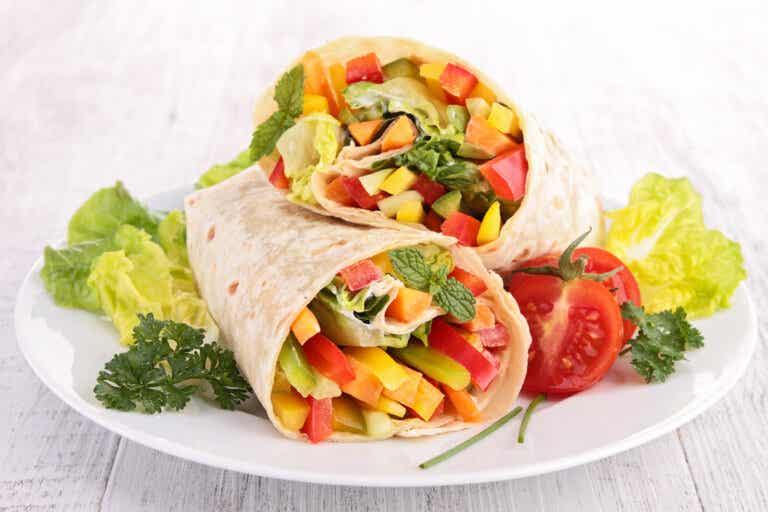 4 deliciosos wraps vegetarianos